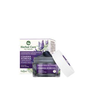 Очищающая маска-детокс для лица Черное Киноа и Глина Гассул Herbal Care 50 мл