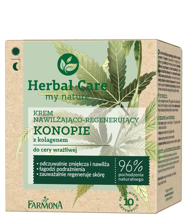 Крем-гель для лица Конопля с коллагеном Herbal Care